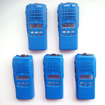 5x Blue Repair Housing Case For Motorola HT1250 limited-keypad Portable Radios