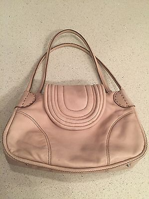 Mimco Cream Leather Shoulder Bag