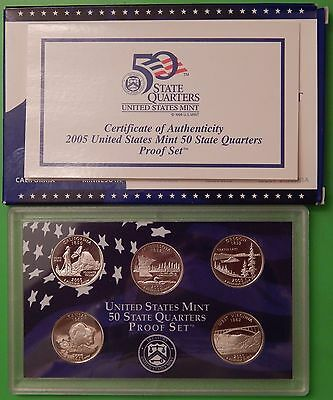 2005 US (S Marks) Statehood Proof Set Including Card and Case