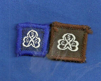 Girl Guides ~ Brownies 2 x Birthday Cloth Badges