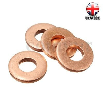 4x For Peugeot / Citroen 1.6 HDI DV6 Injector Copper Washer Seals O-Ring 198173