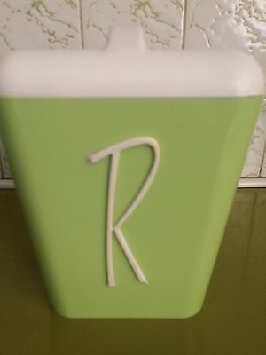 Vintage Retro Gay Ware , Nally GayWare Kitchen Canister Rice Harlequin 50s