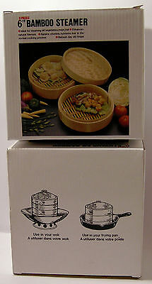 "Bamboo Steamer 3pcs15cm/6"" Diameter Superior quality bamboo"