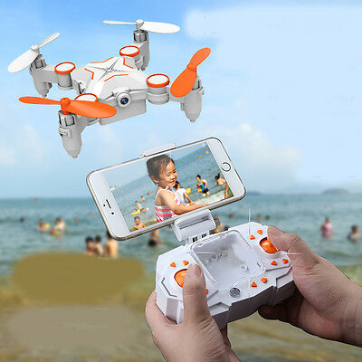 New White Mini Folding Remote Control Four Axis Aircraft Electronic Toy Gift