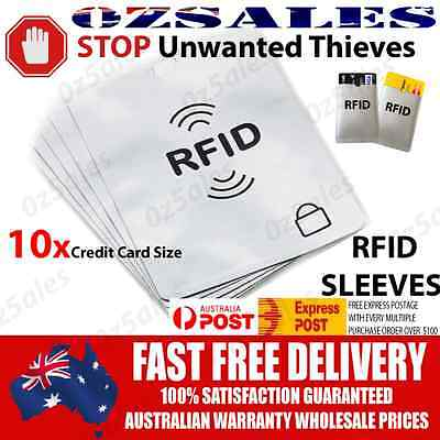 10x Credit Card ID RFID Blocking Sleeve Shield Holder Protector 2