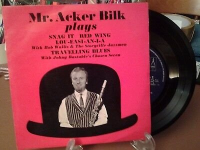 """Mr.Acker Bilk Plays, 7"""" ep Snag It , Red Wing and more"""