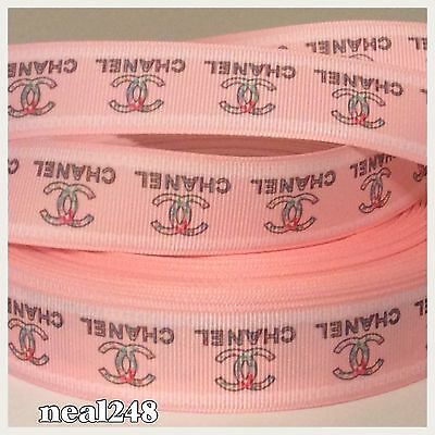 1m Pink GROSGRAIN RIBBON - 25mm wide - dummy clip, bows, crafts
