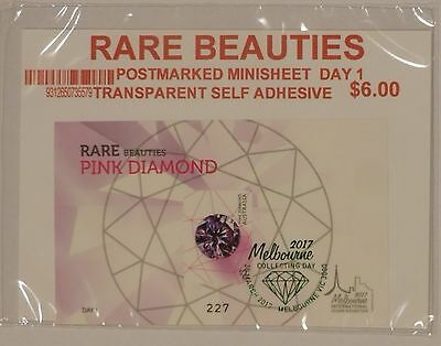 2017 FIAP Melbourne Exhibition Day 1 Limited Gemstone mini-sheet pink diamond
