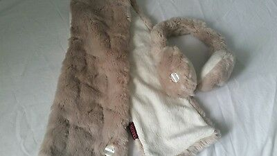 Girls Ted Baker Scarf And Ear Muffs Age 3-6 Years Worn Once