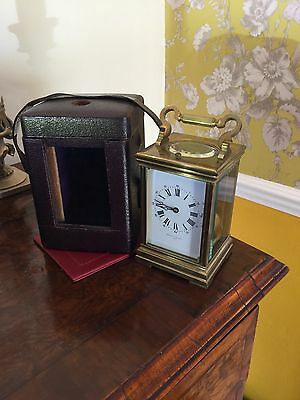 Large Fine Quality Antique Repeater Carriage Clock Glasgow Fully Overhauled