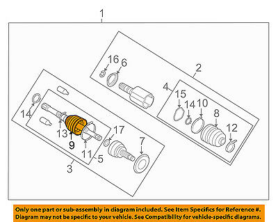 Pleasant Subaru Oem 08 14 Tribeca Rear Axle Outer Cv Constant Velocity Boot Wiring 101 Tzicihahutechinfo