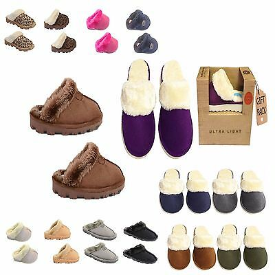Ladies Womens Winter Fur Lined Luxury Mules SLIPPERS Jyoti Libby All size.