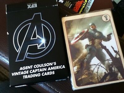 AGENT COULSON'S VINTAGE CAPTAIN AMERICA TRADING CARDS - Sealed