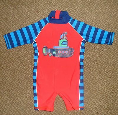 Baby Boys Lovely 1 Piece Swimsuit By Tu Age 3-6 Months In Ex Cond