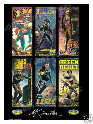 Mort Kunstler Aurora Model Art Print 1 James Bond U.n.c.l.e. Superman D'artagnan