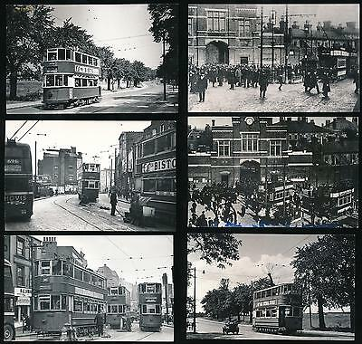 South London Woolwich Trams + Streets 6 Vintage Photos 1909-48 + B.t Cooke Hs