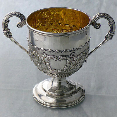 Antique silver gilt two-handled loving cup, London 1828, maker WE