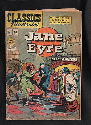 Classics Illustrated #39 Fair  Hrn39   (Jane Eyre)  Charlotte Bronte