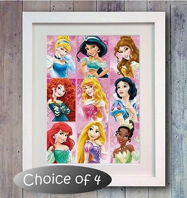 Disney Princess Poster Picture Print Photo wall Art Decor gift Bedroom