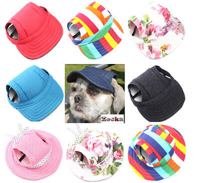 Canvas SUN Baseball Caps n Hats Puppy Small Toy Dog/Cat Visor  UK SUPPLIER