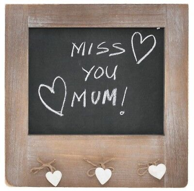 French Country Vintage Inspired Kitchen BLACKBOARD with hearts Wooden New Bla...