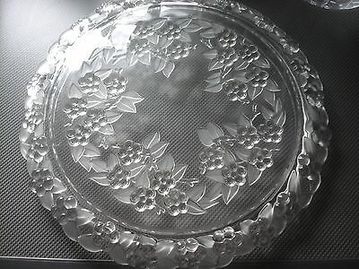 MIKASA SOLID CRYSTAL CAKE PLATE, 13 inches