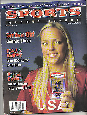 Sports Market Report, 2004 Card Price Guide -Jennie Finch Price Guide Psa List