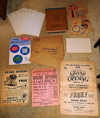 Original Vintage Texaco Oil 1940s Lot Texas Company Pencil Posters Stationery