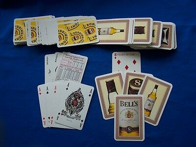 ✮ Vintage BODDINGTONS Beer & Bell's Whisky Promotional Playing Cards ✮