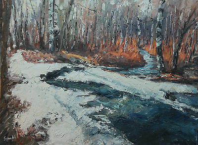 Sean Wu. Original 18x24 oil painting on stretched canvas