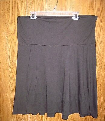 Oh Baby by Motherhood Maternity Black Skirt size XL
