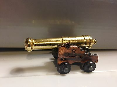 Miniature Revolutionary Civil War Naval Cannon Toy, Made of Brass