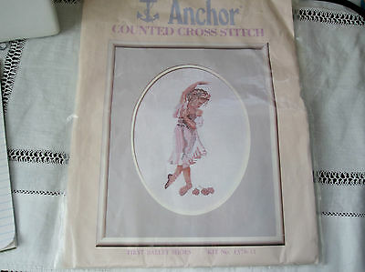 """A Beautiful  EMBROIDERY  KIT"""". Titled  """" FIRST BALLET SHOES """""""
