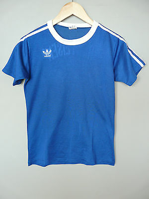 Vtg Adidas Erima 80s Football Shirt Trikot Made In West Germany Small 3/4 (045)