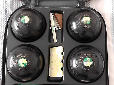 Bowling Balls - Set of 4 - Thomas Taylor - With Case & Extras