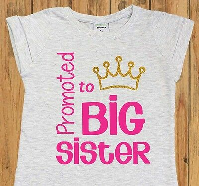 Promoted to Big Sister Shirt. Pregnancy Announcement. Big Sister Announcement