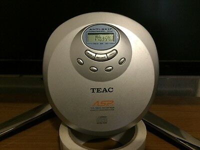 TEAC Portable CD Player Discman + New Batteries - Tested And Working