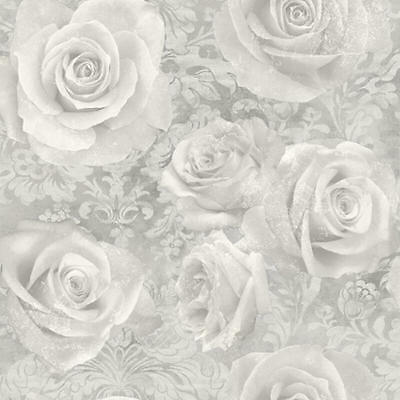 Arthouse Reverie Silver Rose Floral Flowers Heavyweight Quality Wallpaper 623303