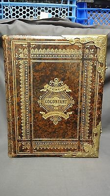 Antique Leather & Brass Bound Large Welsh Family Bible - Y Bibl Cysegr-Lan