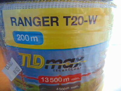 200m Ranger T20 Electric Fence Tape