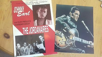 The Jordanaires signed programme & signed Elvis photo (on back)