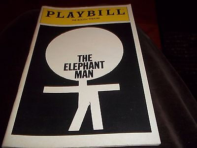 April 1980 - Booth Theatre Playbill - The Elephant Man - Donal Donnelly