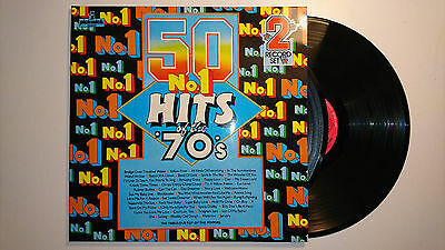 50 No.1 Hits Of The '70's Double LP Gatefold EX+/EX+