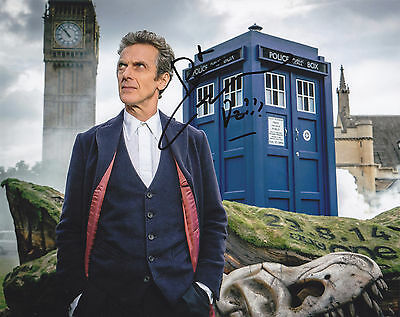 Peter Capaldi Signed Autographed Dr. Doctor  Who 8X10 Photo  Exact Proof