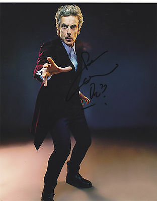 Peter Capaldi Signed Autographed Dr. Doctor  Who 8X10 Photo  Exact Proof #3