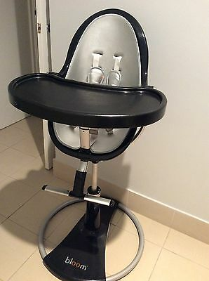 "Bloom ""Fresco"" Highchair (Black And Silver) Rrp Aud $750"