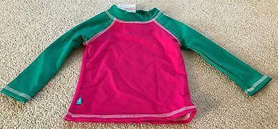 Toddler Girl's Honest Baby Upf 50 Swim Shirt Rashguard-12-18 Months-Nwt!