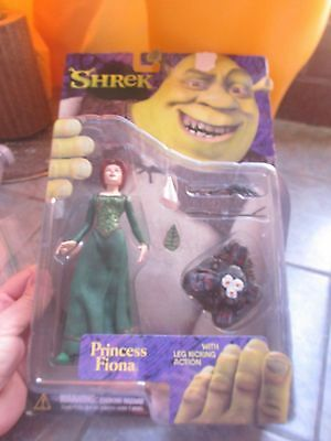 Unopened SHREK 2001 PRINCESS FIONA w/ Leg Kicking Action Figure McFarlane Toys