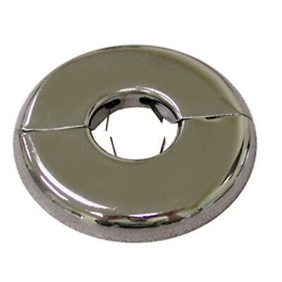 """Chrome Plated 5"""" IPS Floor and Ceiling Plate Heavy Gauge with Springs,PartNo F04"""