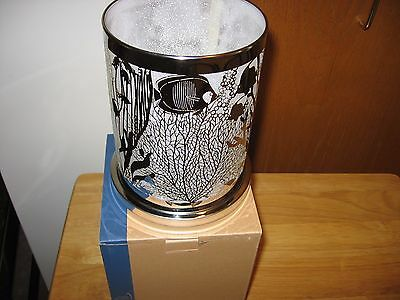 PartyLite ENCHANTED CORAL HURRICANE A TROPICAL VOTIVE TEALIGHT CANDLE HOLDER NIB